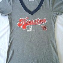 Jansport Houston Cougars T-Shirt Womens Large Gray College University Vneck Top Photo