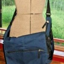 Jansport Huge Laptop Messenger Shoulder Bag Blue School Student 19x17x6 Bag Photo
