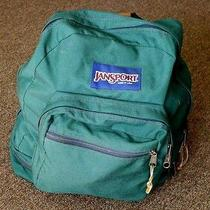 Jansport Hunter Green Nylon Book Bag Backpack Photo