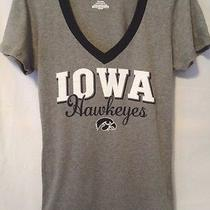 Jansport Iowa Hawkeyes Tshirt Womens Large Gray Vneck College University Top Photo