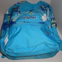 Jansport L Blue & Green Airlift Plaid Backpack Book Bag Laptop Tablet Computer Photo