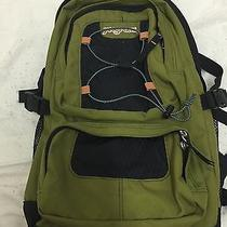 Jansport Laptop Backpack Book Bag Green and Black Photo
