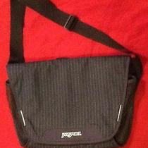 Jansport Laptop Computer Bag Pinstripes Navy Blue Excellent Shape Photo