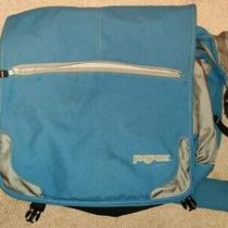 Jansport Laptop Messenger Shoulder Bag Blue Grey  Photo