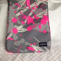 Jansport Laptop Sleeve Case Pink and Gray Paint Splatter Design Photo