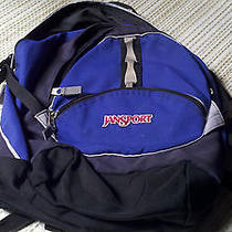 Jansport Large Blue Backpack Book Bag Photo