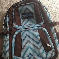 Jansport Large Brown/blue Backpack With Computer Sleeve  Photo