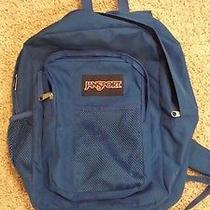 Jansport Large Student Backpack Blue Book Bag Photo