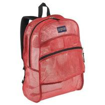 Jansport Majestic Pink Mesh Pack See Through Backpack New Guaranteed for Life Photo