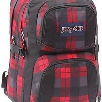 Jansport Merit Backpack Red Tape Kurt Plaid Photo