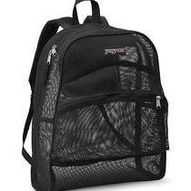 Jansport Mesh Back Pack (Black) - Net/netted - Basket - See Through Photo