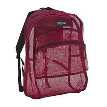 Jansport Mesh Back to School Backpack Bookbag Shoulder See Through Full Purple Photo