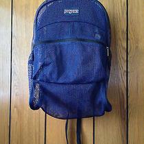 Jansport Mesh Backpack. Blue Photo