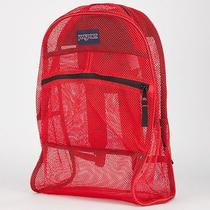 Jansport Mesh Backpack Bookbag See Through - Black or Red - New Photo
