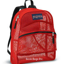 Jansport Mesh Backpack or Book Bag Red Photo