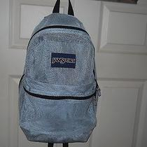 Jansport Mesh Backpack Silvery/white See Through Euc Photo