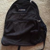 Jansport Mesh Black See-Through School/travel Backpack Photo