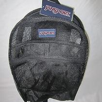 Jansport Mesh Black See-Through School/travel Backpack Nwt Photo