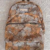 Jansport Mesh Transparent See Through Backpack Floral Bag Pack Hawaiian Photo