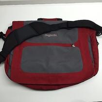 Jansport Messenger Bag Canvas Red Gray Laptop Photo