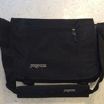 Jansport Messenger Bag - Like New - Never Used - Black/royal Blue Photo