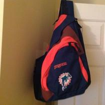 Jansport Miami Dolphins  Sling Backpack Can Run Earbuds Through Strap  Photo