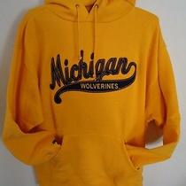 Jansport Michigan Wolverines Sweatshirt Mens Large Gold College Hooded Quality Photo