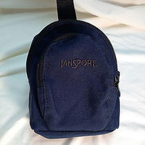 Jansport Mini Backpack for Wrist or Hanging on Main Backpack Navy Blue 2 Zippers Photo