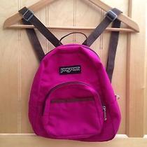 Jansport Mini Backpack Maroon Purple Pink Camping Travel Bag Purse Pockets Nwot Photo