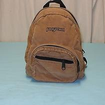 Jansport Mini Brown Corduroy Backpack Book Bag  Photo