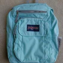 Jansport Mint Seafoam Green Supermax Backpack School Book Bag Size Euc  Photo