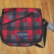 Jansport Mowtown Messenger Bag Red Plaid Red Tape Kurt Nwt Photo
