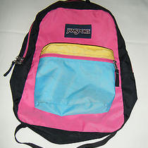 Jansport Multi Color Backpack School Book Bag  Photo