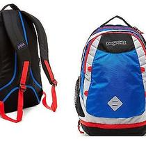 Jansport Navy Blue Grey Red T54nzs4 Boost Blue Streak / Hig 2300 cu.in. Backpack Photo