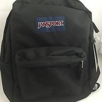 Jansport New Black Backpack High School College Bag Adult Authentic Photo