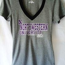 Jansport Northwestern Tshirt Juniors Large Gray University Logo College Vneck Photo