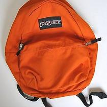 Jansport Orange Backpack Book Bag School Books Photo