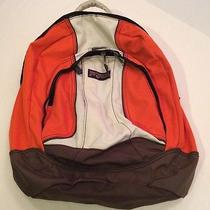 Jansport Orange Brown Back Pack Book Bag Photo
