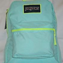 Jansport Overexposed Backpack - Teal W/ Flourescent Green Accents Free Shipping Photo