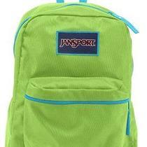 Jansport Overexposed Travel Backpack - Zap Green/mammoth Blue - 16.7