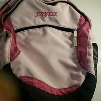 Jansport Pink  Backpack  4 Zippers Head Phone  Nice Bag Photo