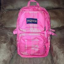 Jansport Pink Backpack With Laptop Compartment  Photo