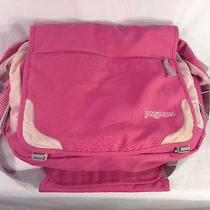 Jansport Pink Bag Computer Messenger Laptop Crossbody Tote Photo