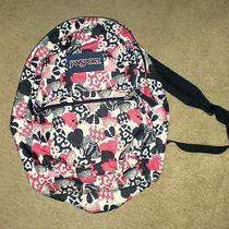 Jansport Pink/black Heart Backpack Photo