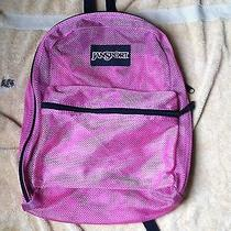 Jansport Pink Translucent Backpack / Beach Bag See Through Vintage Brand New Photo