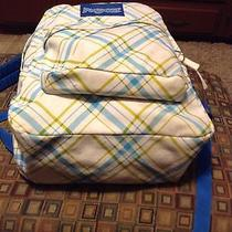 Jansport Plaided Vinyl Book Backpack Photo