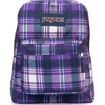 Jansport Purple Plaid Backpack 100% Authentic New With Tags Photo