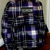Jansport Purple Plaid Backpack Photo