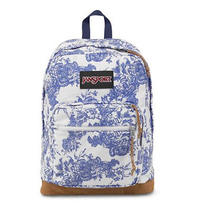 Jansport Right Pack Expressions Backpack in Whiteblue Wash Vintage Floral Tzr6 Photo