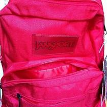 Jansport Right Pack Monochrome  Bookbag College Laptop Bag Red  Photo